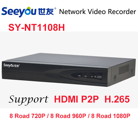 Seeyou 1080P Security Camera Kit NVR SY-NT1108H & IP Camera SY-K2A2D-S Security CCTV System for Home Easy to Install