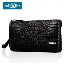 yuanyu Import real crocodile leather men clutches  luxury men big business men bags hand caught