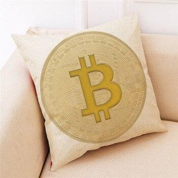 2018 Bitcoin Coin Cushion Cover Bitcoin Decorative Coins Throw 45cm*45cm Pillowcase Pillow Covers Pillows For Sofa Seat