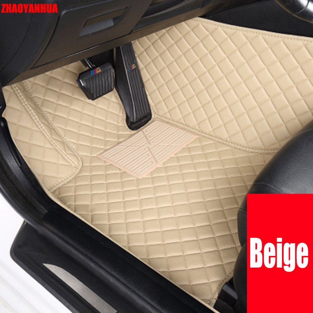 Zhaoyanhua car floor mats for honda fit crv cr v hr v vezel 6d sepcial car styling carpet rugs floor liners 2008