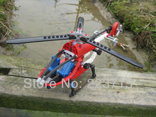*Technic Helicopter 'Whirly Bird' * DIY enlighten block bricks,Compatible With Assembles Particles