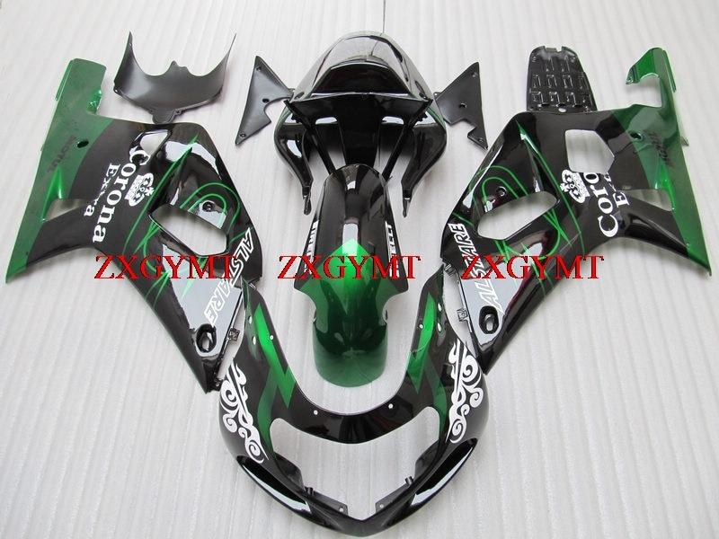 Plastic Fairings for GSX R 600 750 1000 2000 - 2003 K1-2 Fairings GSX R600 R750 R1000 03 02 Black Green 2003Plastic Fairings for GSX R 600 750 1000 2000 - 2003 K1-2 Fairings GSX R600 R750 R1000 03 02 Black Green 2003