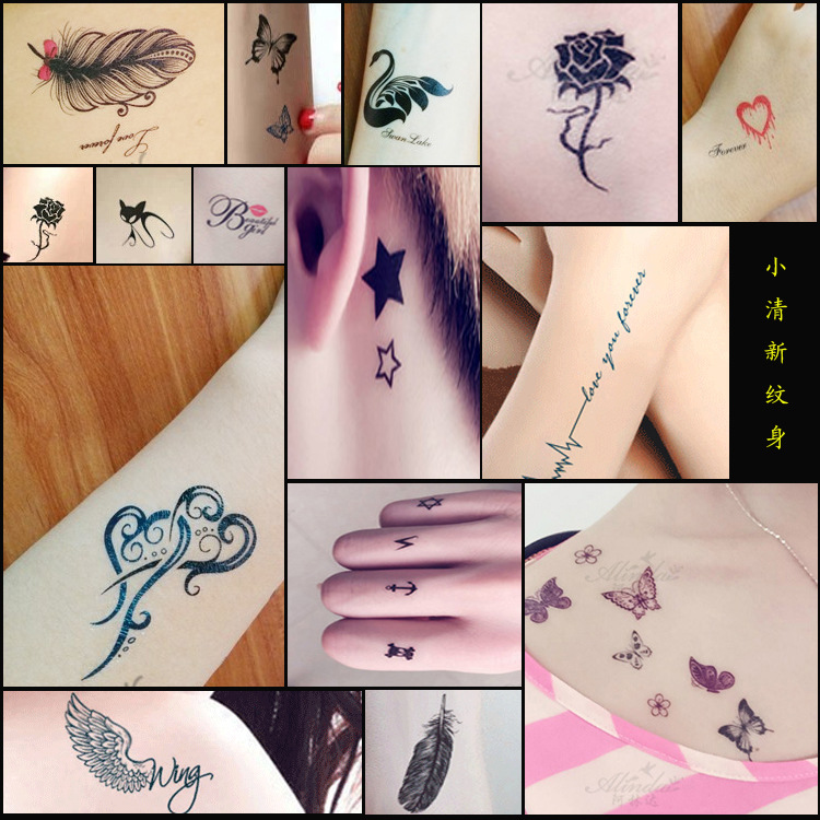 10pcs/Lot Lovely Body Art Temporary Tattoos Sticker Unisex
