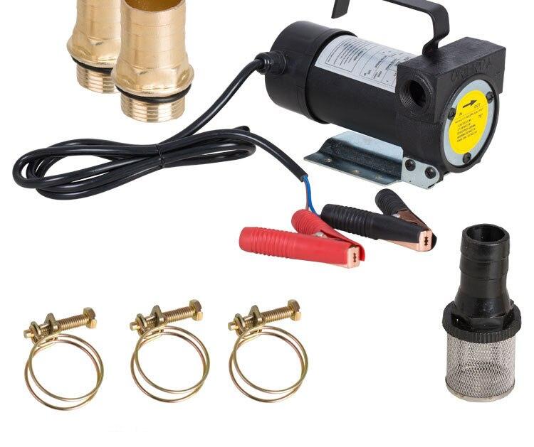 12V24V 200 W huile-eau double usage DC pompe à puits de pétrole pompe électrique Diesel pompe à huile électrique machine de remplissage