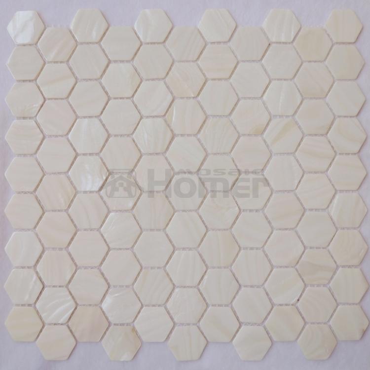 hexgono patrn de mosaico de ncar blanco puro blanco mosaico de azulejos baldosas backsplash
