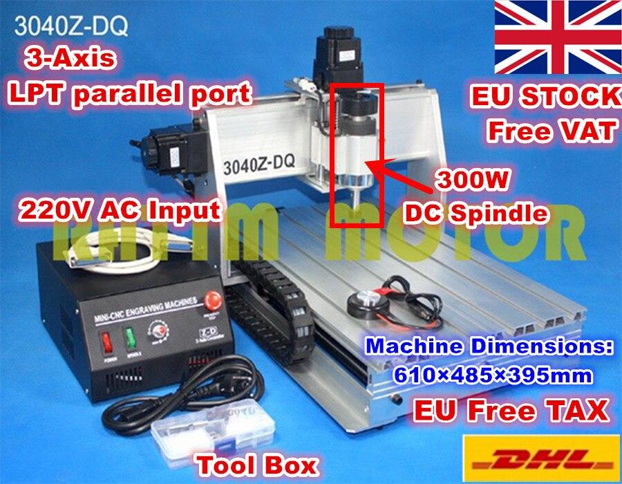 [EU Stock/tva gratuite] 3 axes 3040Z-DQ Port parallèle vis à billes de bureau 3040 CNC routeur gravure fraiseuse 220 V