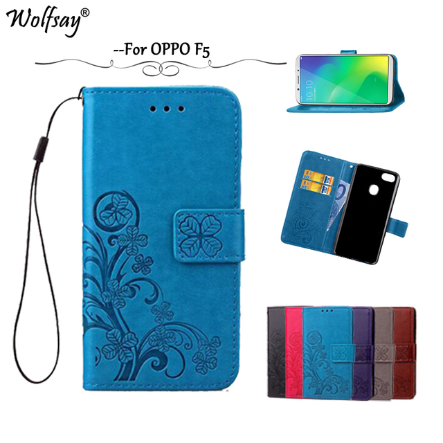 promo code 82cb3 40301 US $3.18 24% OFF|Wolfsay Fundas OPPO F5 Case A73 Leather Case Flip Wallet  Case for OPPO F5 F 5 Soft Silicone Phone Cover For OPPO A73 Capa-in Wallet  ...