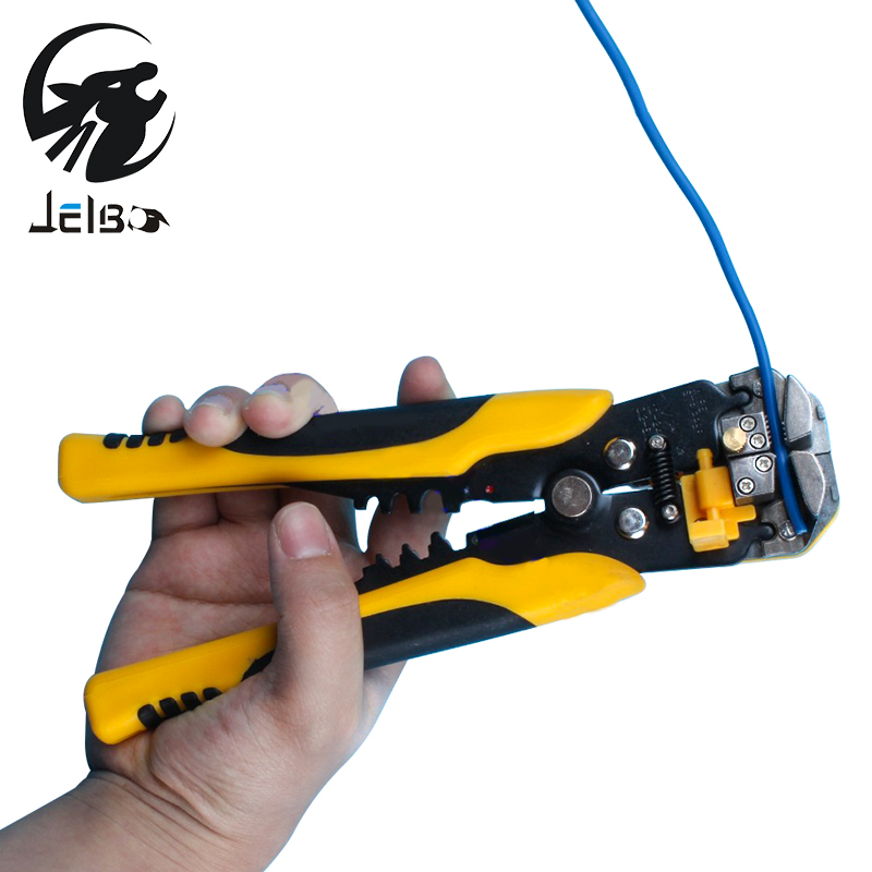 Jelbo Automatic Stripping Pliers Hand Tools Pliers Wire Strip Pliers Cable Wire Stripping Crimping Tools Cutting automatic stripping pliers thread crimping pliers stripper peeling pliers electrician pliers