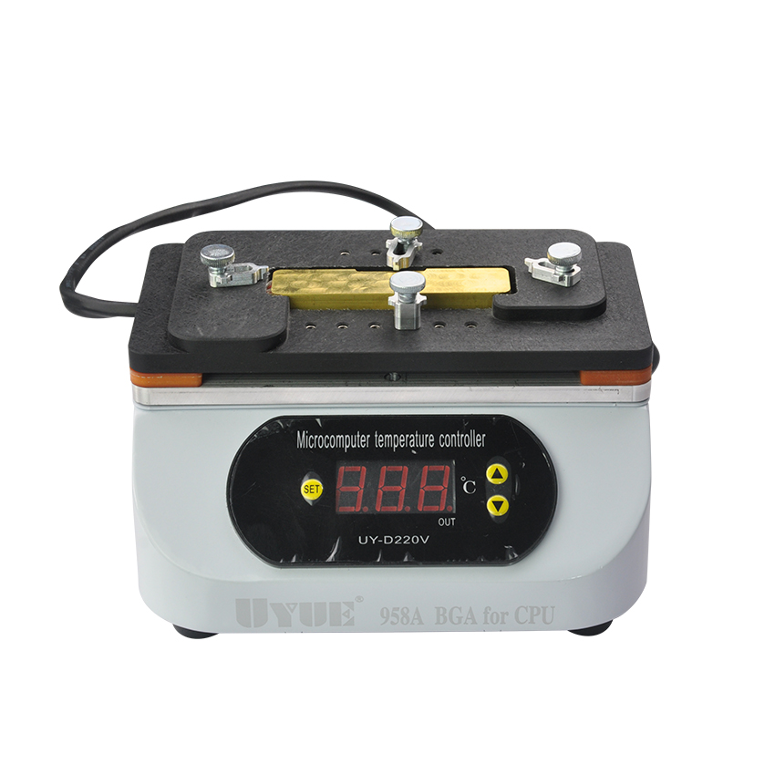 UYUE 958A Desoldering Rework Station for iPhone Motherboard CPU Chip ppd 120e l soldering station down the forapple mobile phone motherboard chip a10 a9 a8cpu intelligent desoldering tools