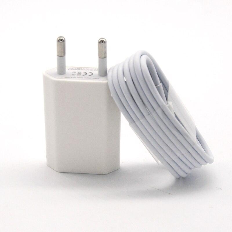 GEUMXL высокое качество ЕС Путешествия Дом стены AC Зарядное устройство адаптер + 8pin данных Зарядное устройство кабель для iPhone 7 6 6 S 6 S плюс 5 5S iOS10