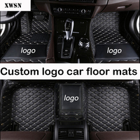 custom logo car floor mats for Subaru All Models forester BRZ XV Outback Legacy car styling car accessories car mats