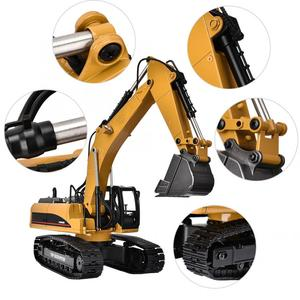 Image 3 - 1580 2.4G 23CH RC pelle jouet 1/14 échelle métal ingénierie véhicule avec LED Flash télécommande chenilles voitures camion jouet
