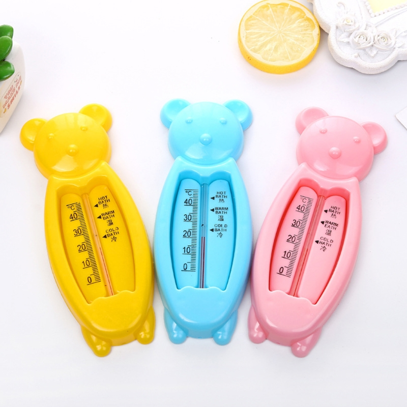 Lovely Cartoon Bear Floating Bear Water Sensor Thermometer Plastic Kids Bath Tub