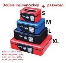 15 см * 11 см * 9 см Двойное Страхование Красный Пароль Сейфы