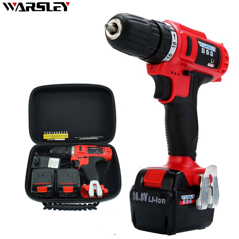 21V Cordless Power Screwdriver Can Rechargeable 2 Batteries Electric Mini Drill Easy To Carry DC Powered Screwdriver Power Tools mini small cordless electric rechargeable screwdriver 4 8v 180rpm 20pcs screwdriver bits 3pcs drill for home use diy tools