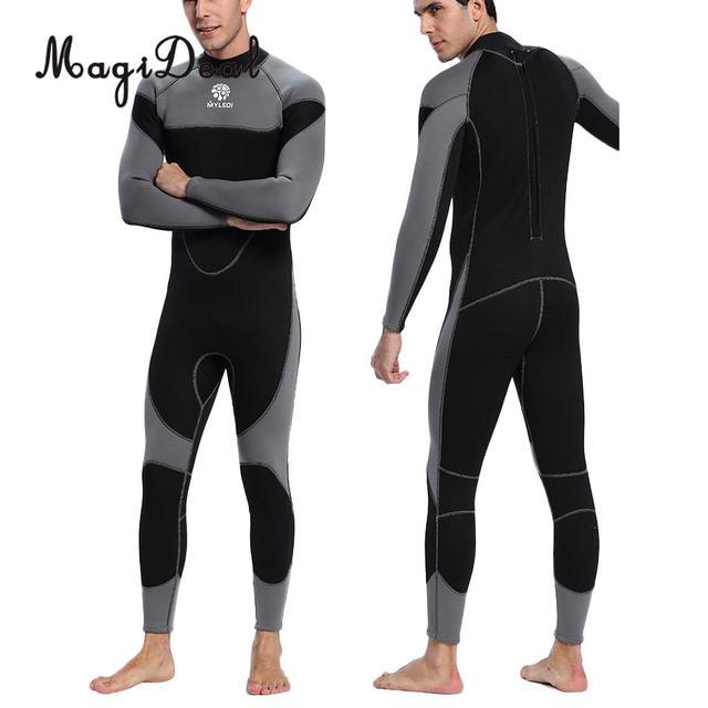 Anti UV 3mm cuerpo completo neopreno Snorkeling buceo traje de buceo hombres buceo traje de baño /M/L/XL