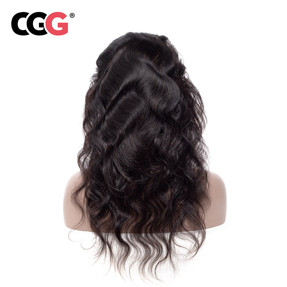 CGG 360 Lace Frontal Closure With Baby Hair Body Wave Pre-Plucked Natural Color Brazilian Non-Remy 100% Human Hair 8-20 Inch(China)