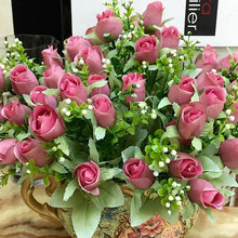 Цветы украшения дома Искусственный шелк цветок 10 15 головок французская Роза цветочный букет поддельные цветок организовать Таблица шелковые розы