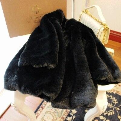 Fourrure noir Femmes Mode De 17s42 Nouveau En Manteau Style bleu jaune Fausse Haut Rouge Gamme qwROTa8