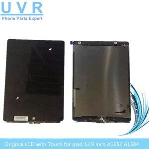 Hurtownie oryginalny 12.9 cal wyświetlacz LCD z dotykiem dla ipad 7 Tablet wyświetlacz ekran dotykowy digitizer zgromadzenie A1652 A1584 bez deski