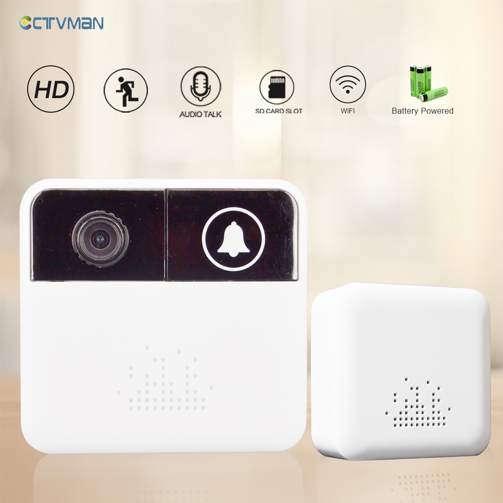 CTVMAN Wireless Doorbell Wifi Mini Camera HD 720p Video Intercom Door Bell Alarm Home Intercoms Video Doors Viewer For Apartment