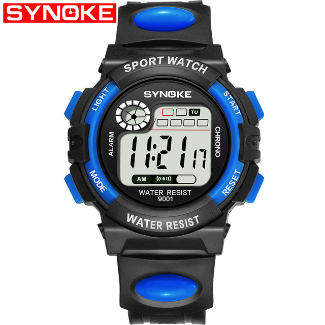 SYNOKE Fashion Children Watches Kid Boy Girl Digital LED Quartz Alarm Date Sport