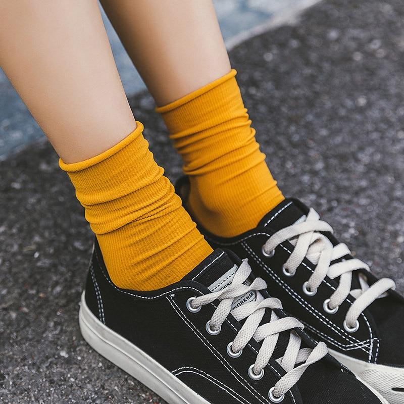 1 Pair Women Socks 2019 Summer New Long Socks Nylon Candy Color Women Fashion Fresh Soft Thin Socks For Women
