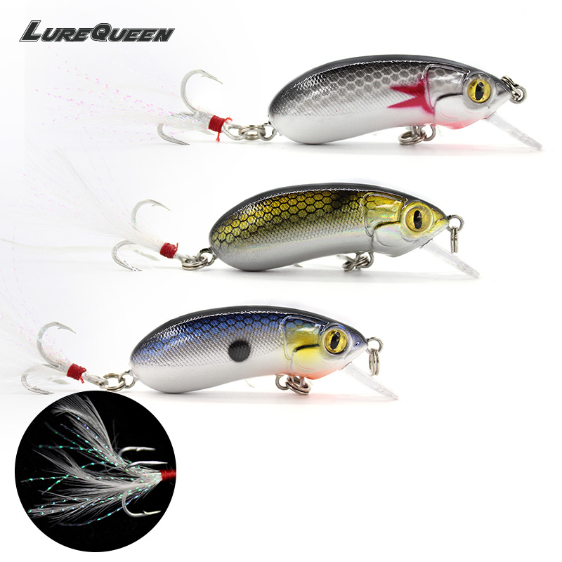 Lurequeen Top water Floating Fishing Lures minow crank Lure Crankbait Minnow Swimming Crank Baits Fishing Tackle