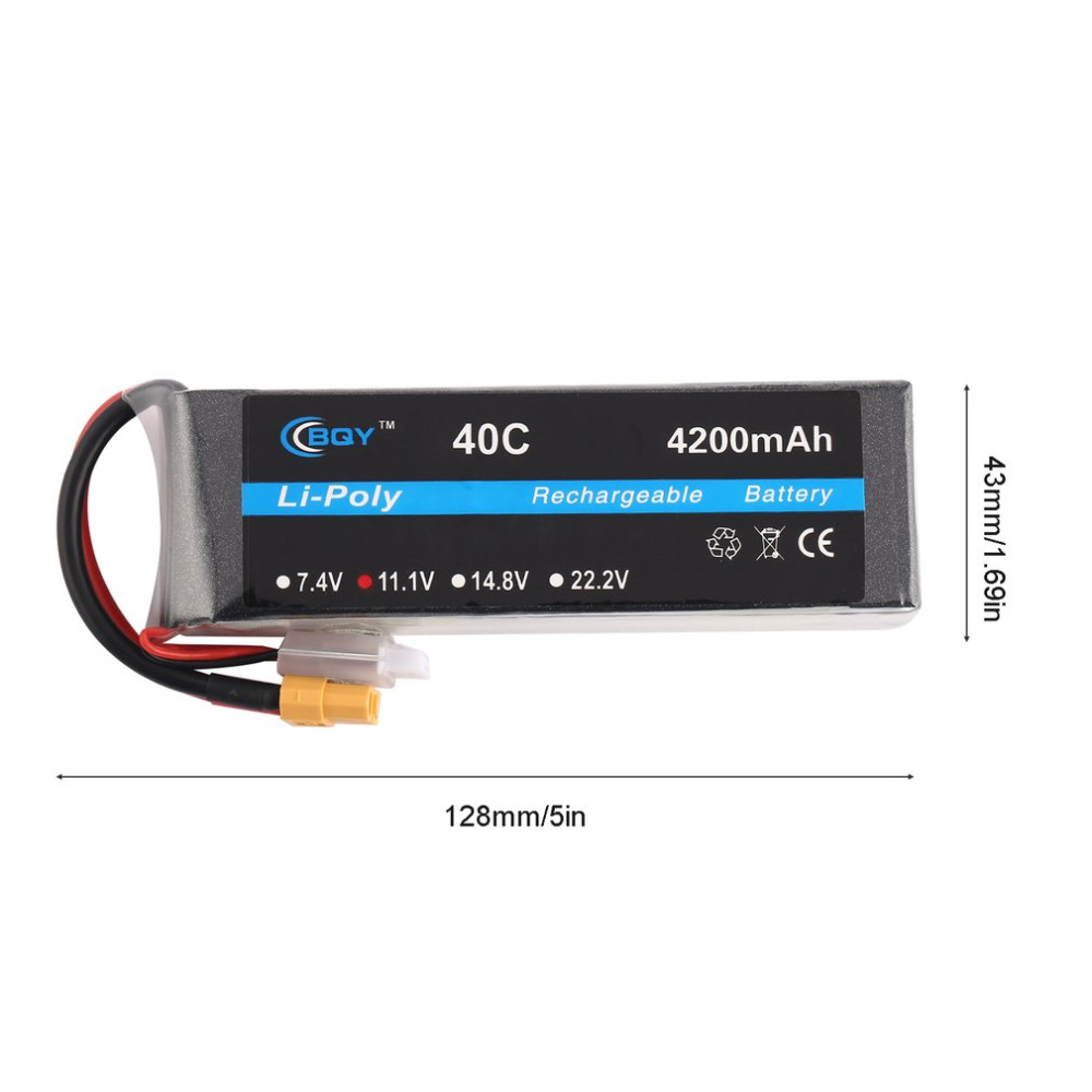 New 1pc Professional 4200mAh 40C XT60 Lithium Polymer Rechargable Battery RC airplane helicopter car truck boat drone tablet pc battery large capacity lithium polymer battery 3 7v battery