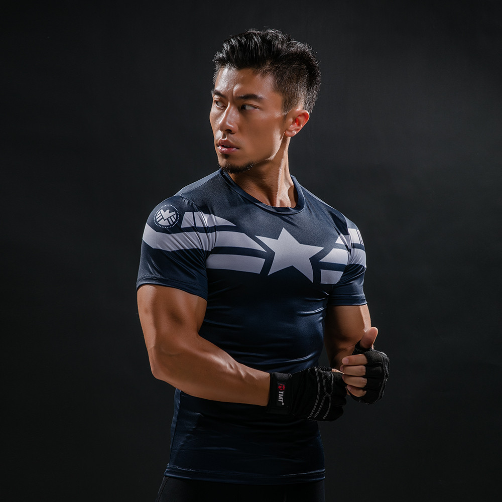 Punisher 3D Printed T-shirts Men Compression Shirts Long Sleeve Cosplay Costume crossfit fitness Clothing Tops Male Black Friday 64