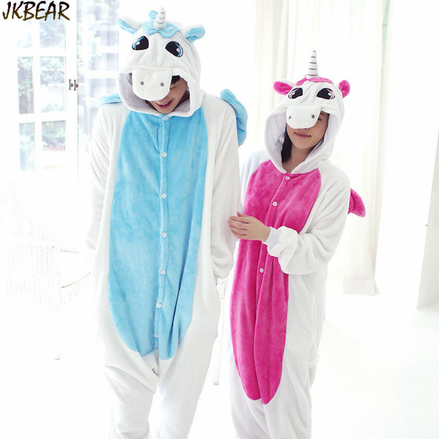 Hot-sale Cute Unicorn Onesies for Teenagers and Adults Flannel Funny Animal  Couples Matching Onesie
