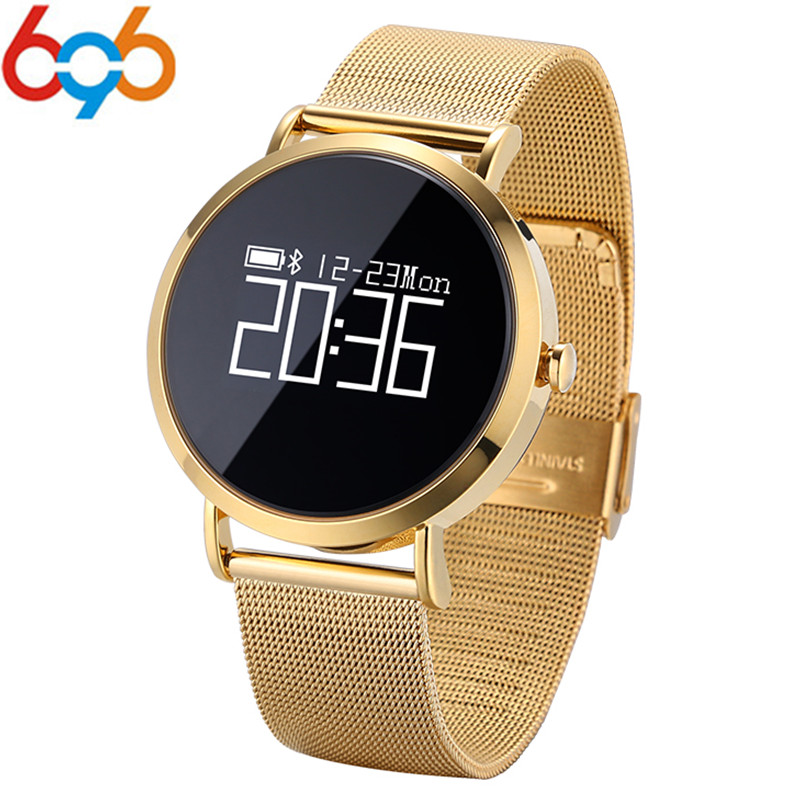 696 Bluetooth CV08 Smart Wristband Smart Watch Bracelet 0.95inch OLED Screen Touchpad for iPhone Andriod with Metal Strap
