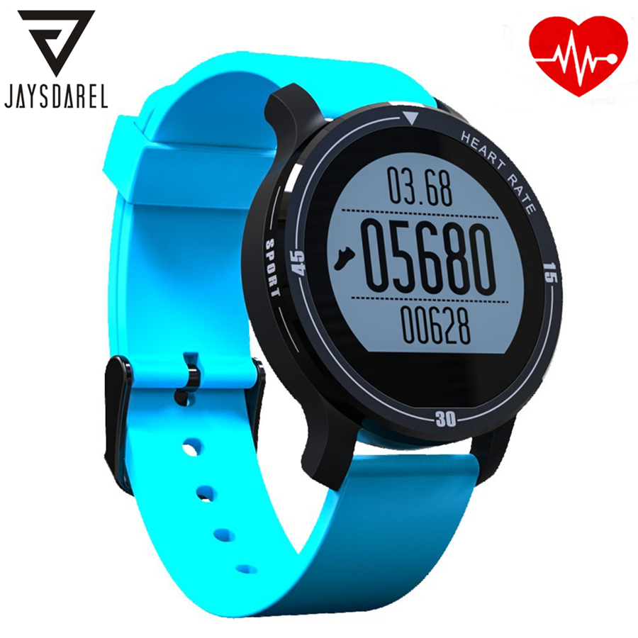 JAYSDAREL S200 Heart Rate Monitor Smart Aerobic Sport Watch Waterproof IP68 Bluetooth Smart Wristwatch for Android iOS g5 bluetooth smart watch android sport wristwatches heart rate monitor sport wristwatch bluetooth notification watches