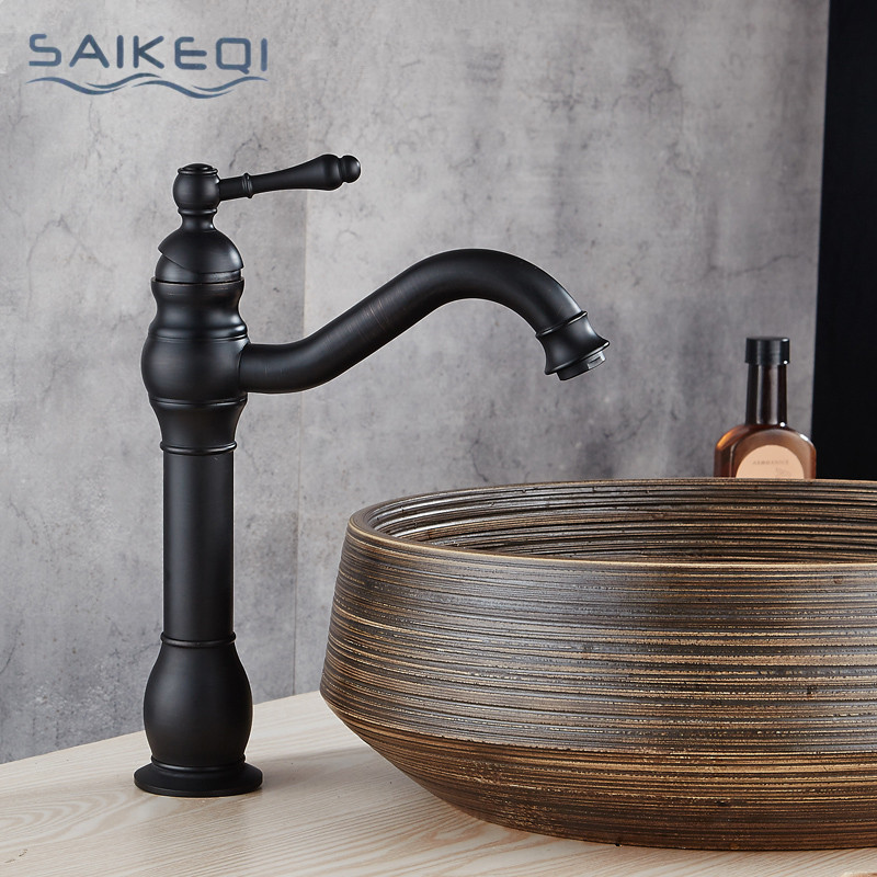 antique copper bathroom faucets Basin Faucets Brass Oil Rubbed Bronze black faucet bathroom hand shower Hot Cold Mxier Water Tap bathroom accessories black oil rubbed bronze toothbrush holders band ceramic cups wba474