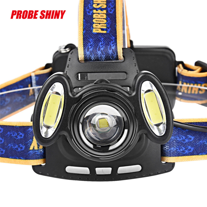 High Quality 15000Lm 3x XML T6 LED Headlamp Rechargeable Headlight 18650 Head Torch Light Lamp 3 xml t6 2 blue light led headlamp 15000lm usb rechargerable led headlight head lamp 5 mode head torch for fishing lantern light
