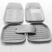 цена на 5pcs Gray Car Floor Mats PU Leather Universal for Auto Car Floor Mats 3D Car-styling