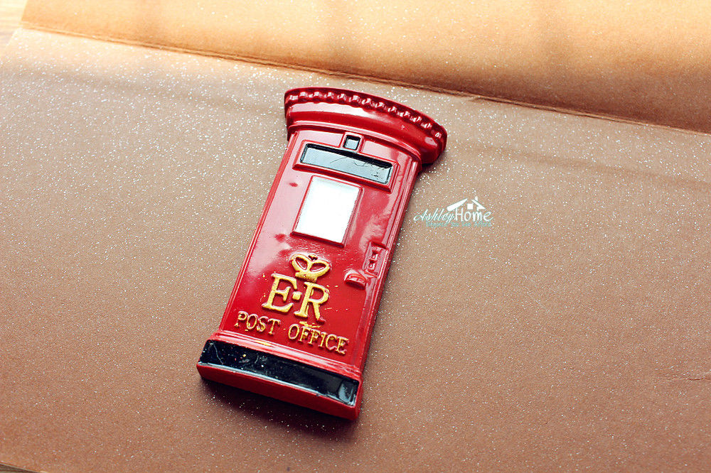 UKs Royal Mail Mailing Box Tourist Travel Souvenir 3D Metal Fridge Magnet Craft