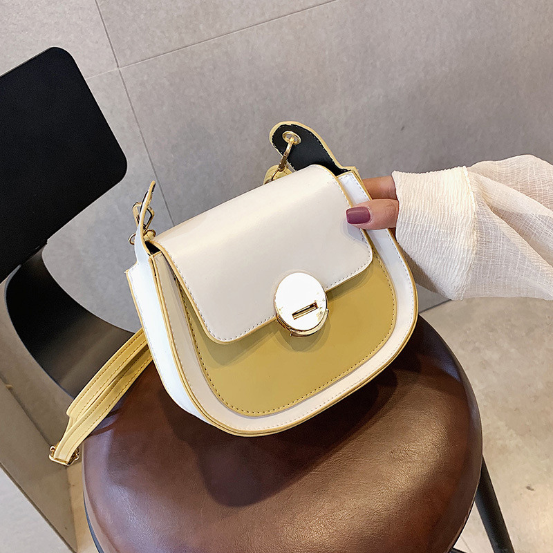 PU Stitching Fashion Small Square Bag High Quality Shoulder Diagonal Package Summer New Women Bag 2019 in Top Handle Bags from Luggage Bags