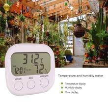 ЖК-цифровой термометр гигрометр Измеритель температуры и влажности с часами Новая метеостанция