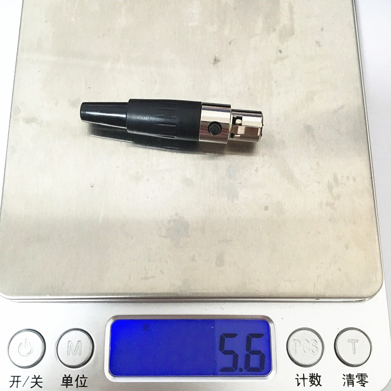 10 шт/лот хорошее качество мини xlr 4pin штекер маленький cannon