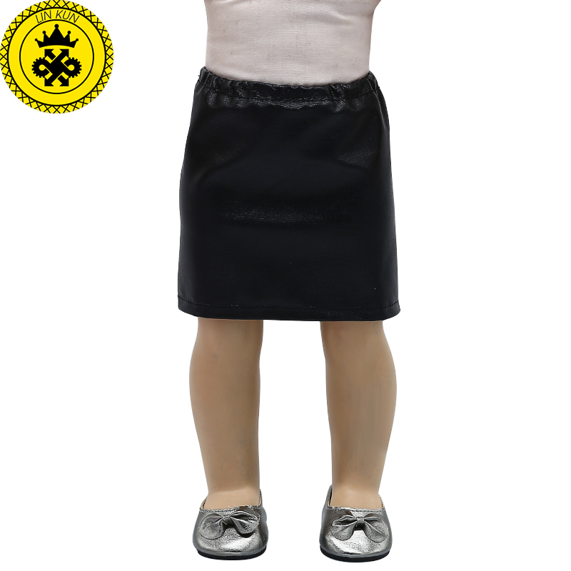 American Girl Doll Clothes Black Leather Pants Skirt fit 18 inch Dolls Baby Born Doll Accessories MG-336 baby born doll accessories kayak adventure set 18 inch american girl doll accessories let s go on an outdoor kayak adventure