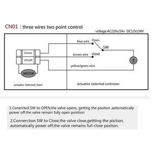 Image 5 - Válvula de esfera atuador válvula de esfera elétrica válvula de esfera bobina controlador três linha controle em dois sentidos ac220 ac24v dc24 dc12v