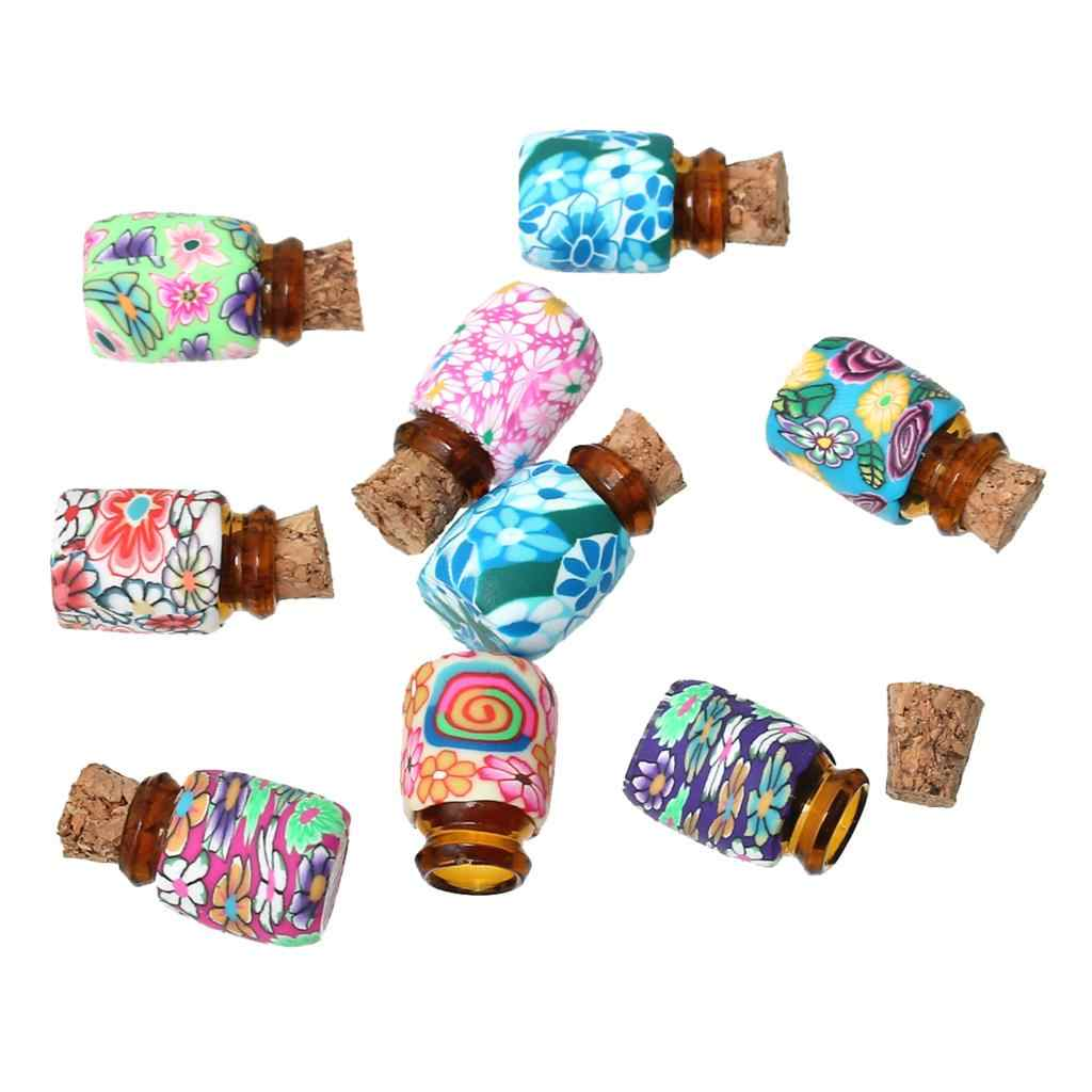 "DoreenBeads Clay Glass Bottles Round At Random 19.0mm( 6/8"") x 13.0mm( 4/8""), 2 PCs 2015 new"