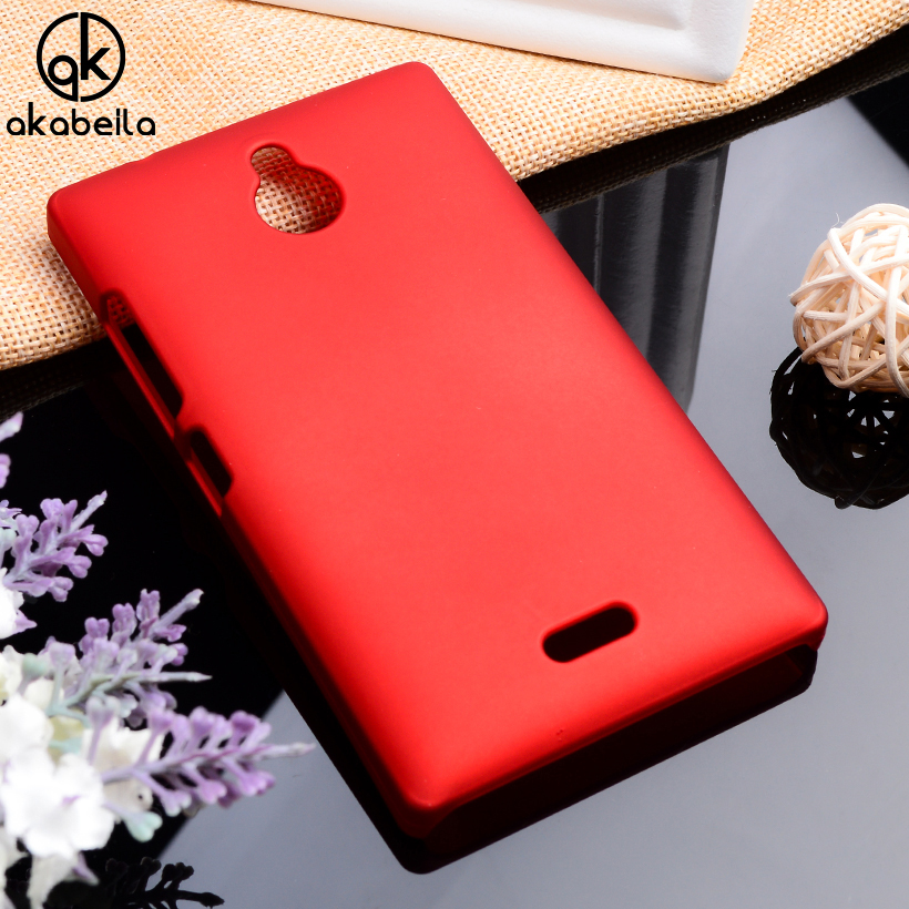 AKABEILA Oil-coated Phone Covers Cases For Nokia X2 <font><b>1013</b></font> X2DS Dual SIM <font><b>RM</b></font>-<font><b>1013</b></font> Case Back Cover Plastic Matte For Nokia X2 image