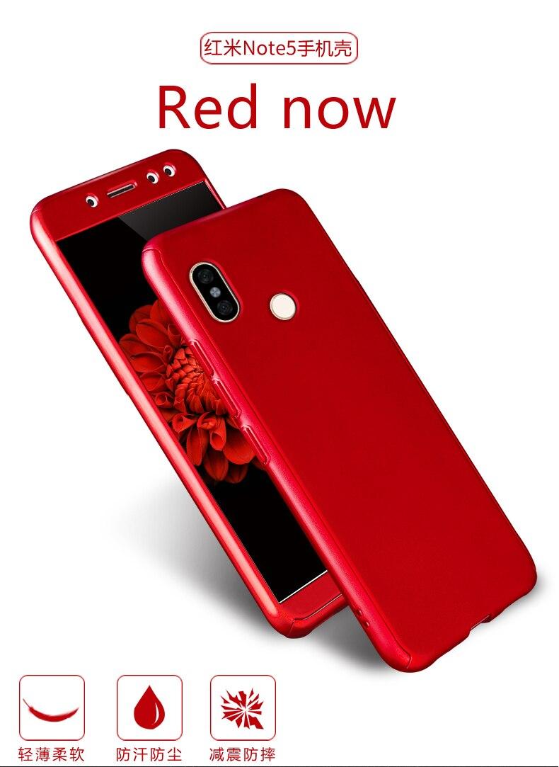 Tempered Glass Film For Xiaomi Redmi 5 360 Degree Full Back Cover Note 4x 16gb Ram 3gb Blackgoldgreyrose Goldblue 5a 2gb