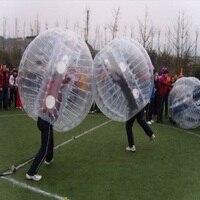 Бампер zorb надувной игрушки игры на открытом воздухе Бурлящий шарик Футбол, пузырь футбол 1,2 м, 1,5 м, 1,8 м ПВХ материалов