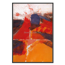 hand painted josef mikl oil painting on canvas red abstract wall art famous picture for home decoration high quality