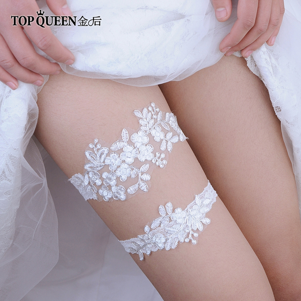 TOPQUEEN  Lady Sexy Lingerie Garter Stocking Lace Garter Belt Legs Ring Harness Women Belt Wedding Garter Bridal Girl TH0506