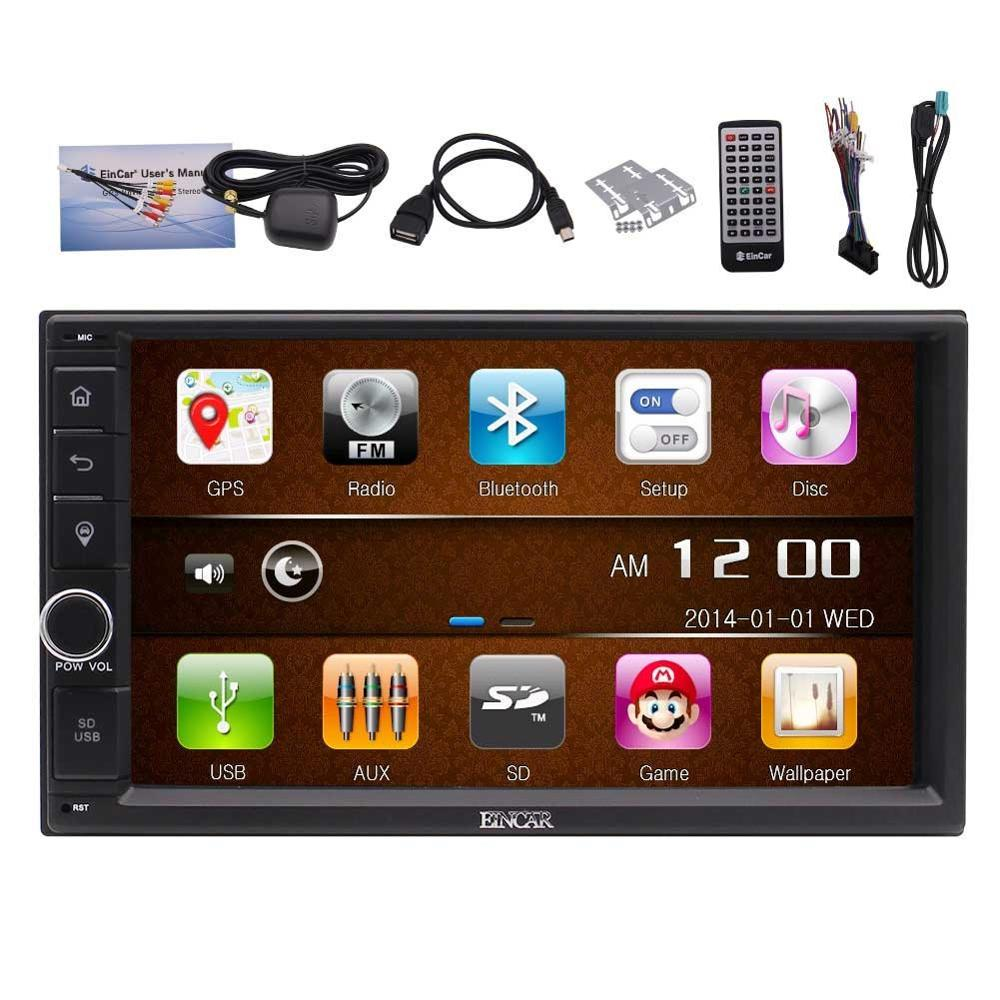 "7"" Capacitive Screen Car Stereo with GPS Navigation Double 2Din Headunit car tape recorder gps 1080p video multimedia player"