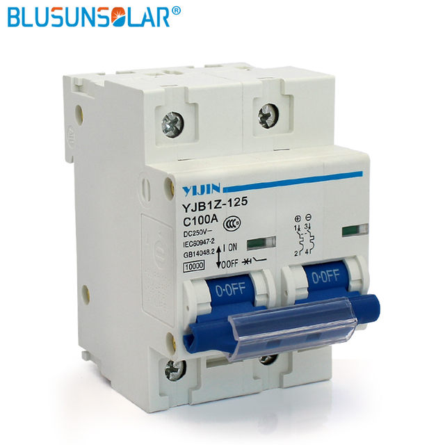 1 Pieces 2p 100a Dc440v Mcb Circuit Breaker For Solar Pv Power
